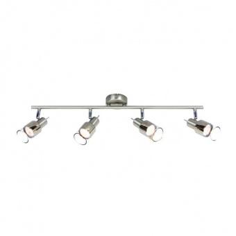спот platinum, chrome+clear-chrome, aca lighting, 4xGU10, mc6564