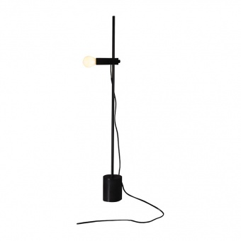 настолна лампа hera, black, aca lighting, 1xE14, od581t58b