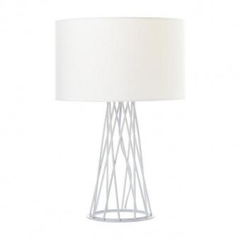 настолна лампа acacia, matt white+white, aca lighting, 1xE27, v35135twh