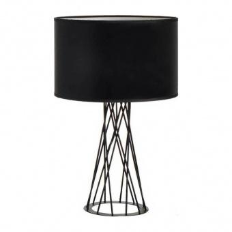 настолна лампа acacia, matt black+black, aca lighting, 1xE27, v35135tbk
