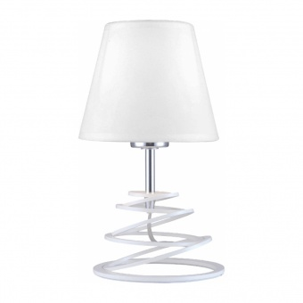 настолна лампа lagos, matt white-chrome+white, aca lighting, 1xE27, oyd10134wtl1