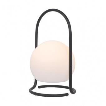 градинска настолна лампа egg, black+white, aca lighting, led 1.2w, 3000k, 96lm, zm20ledt29