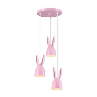полилей bunny, pink, aca lighting, 3xE27, zm73p35p