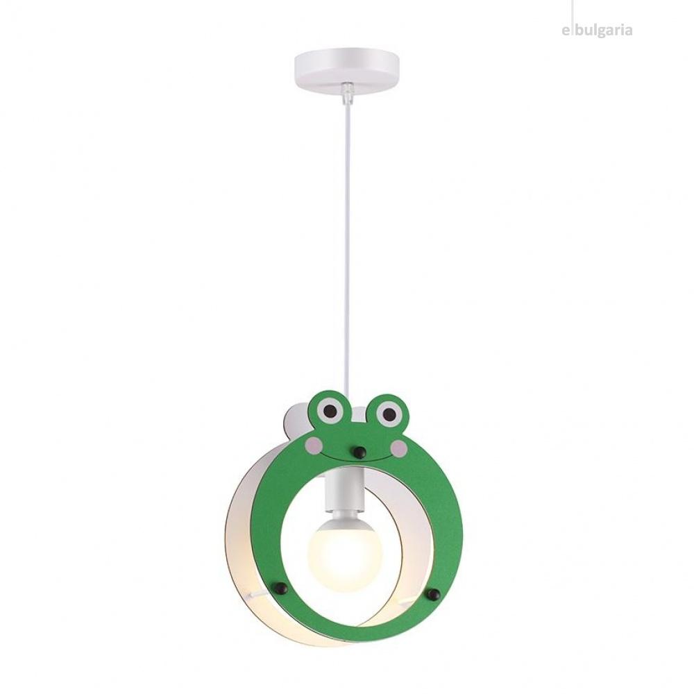 пендел farma froggy, green, aca lighting, 1xE27, zm441p25