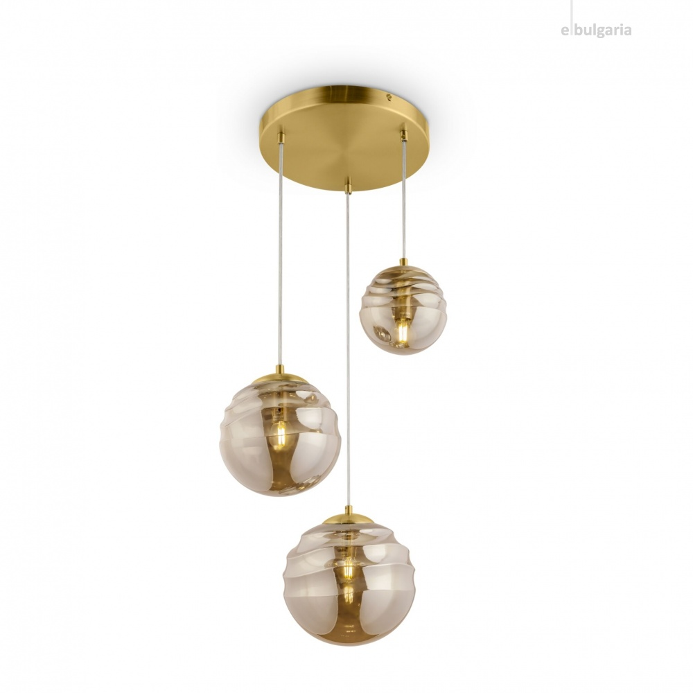 полилей vinare, brass, maytoni, 3xE14, p074pl-03bs
