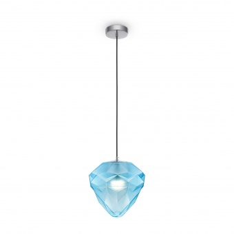 пендел globo, chrome+blue, maytoni, 1xE27, p053pl-01bl