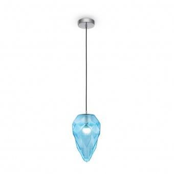 пендел globo, chrome+blue, maytoni, 1xE27, p052pl-01bl