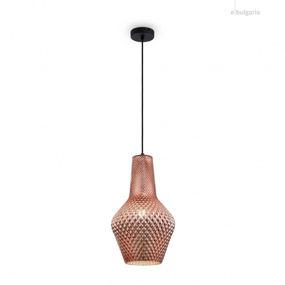пендел tommy, black+copper, maytoni, 1xE27, p056pl-01b