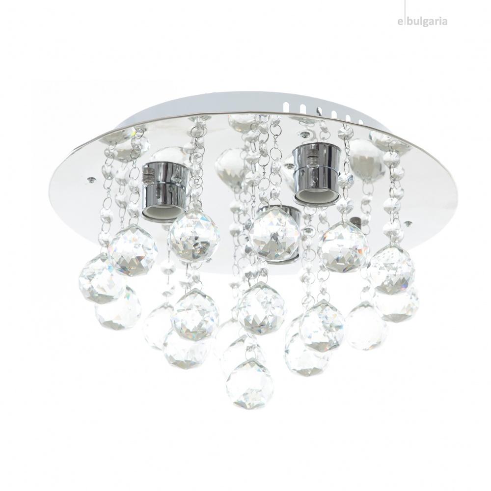 кристален плафон, хром, elbulgaria, 3x40w, 879/3ch