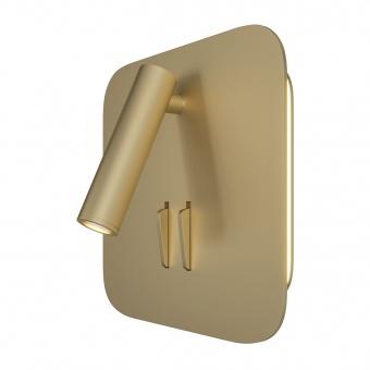 аплик ios 176, matt gold, maytoni, led6w+led3w, 3000k, 150-200+80-110lm, c175-wl-01-6w-mg