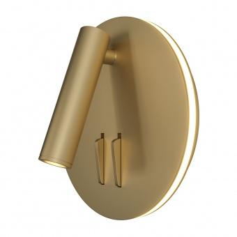 аплик ios 176, matt gold, maytoni, led6w+led3w, 3000k, 150-200+80-110lm, c176-wl-01-6w-mg