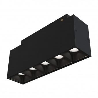 led модул за магнитна релса points, black, maytoni, led 10w, 3000k, 600lm, 30°, tr014-2-10w3k-b