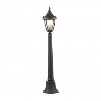 градински стълб rivoli, black, maytoni, 1xE27, 0026fl-01b