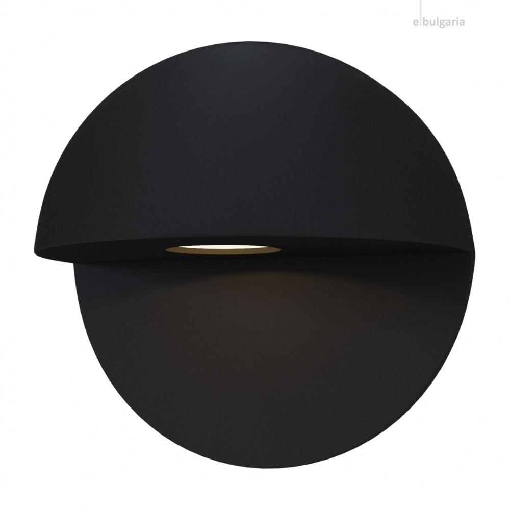 градински аплик mezzo, black, maytoni, led 7w, 3000k, 500lm, 0033wl-l7b3k