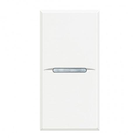 ключ бутон девиатор сх.6, white, bticino, axolute, hd4003