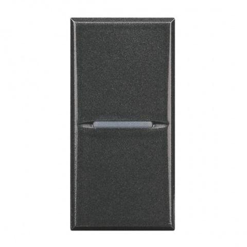 ключ бутон девиатор сх.6, anthracite, bticino, axolute, hs4003
