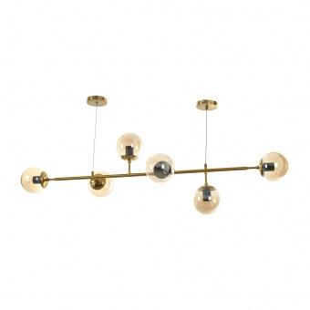 Полилей Molecule, злато, elbulgaria, 6xe27, 2393/6 GD