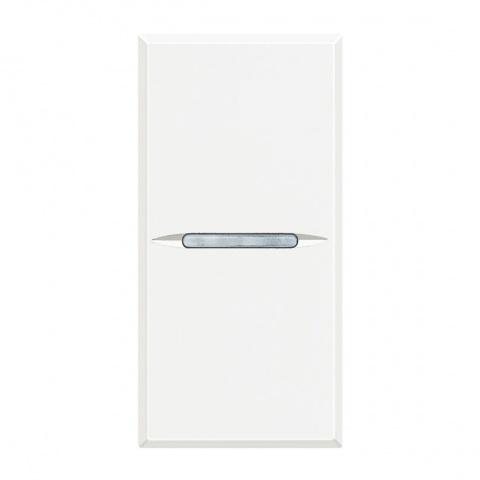 ключ бутон кръстат сх.7, white, bticino, axolute, hd4004