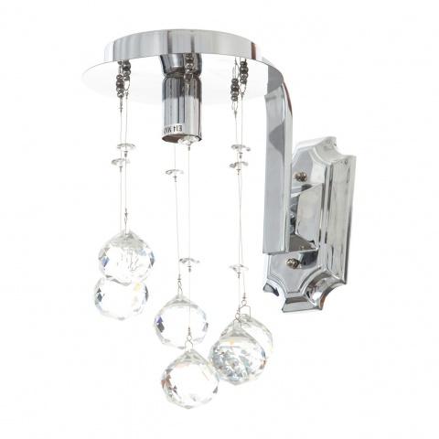 кристален аплик, хром, elbulgaria, 1x40w, 724/1w