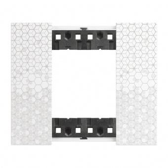 Рамка 2 мод. цвят Пиксел (Pixel) Living Now Bticino, KA4802MW