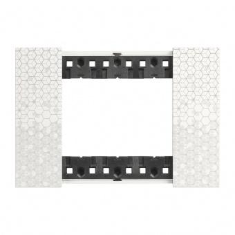 Рамка 3 мод. цвят Пиксел (Pixel) Living Now Bticino, KA4803MW