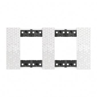 Рамка 2x2 мод. цвят Пиксел (Pixel) Living Now Bticino, KA4802M2MW