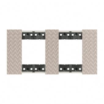 Рамка 2x2 мод. цвят Илюзия (Optic) Living Now Bticino, KA4802M2MM