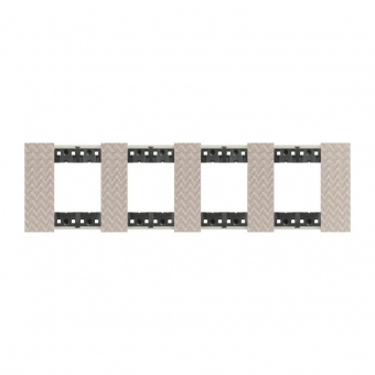 Рамка 4x2 мод. цвят Илюзия (Optic) Living Now Bticino, KA4802M4MM