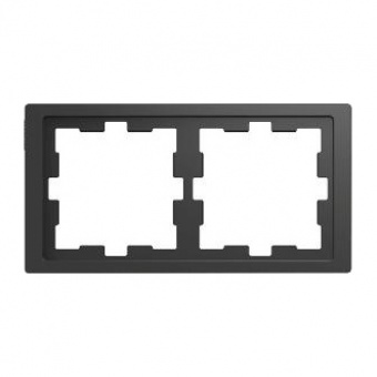 Рамка 2х цвят Антрацит System Design Merten SE ,MTN4020-6534