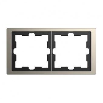 Рамка 2х цвят Никел System Design Merten SE ,MTN4020-6550
