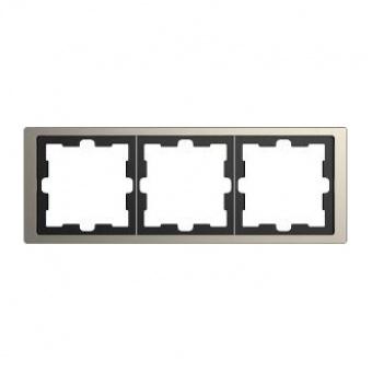 Рамка 3х цвят Никел System Design Merten SE ,MTN4030-6550