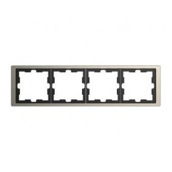 Рамка 4х цвят Никел System Design Merten SE ,MTN4040-6550