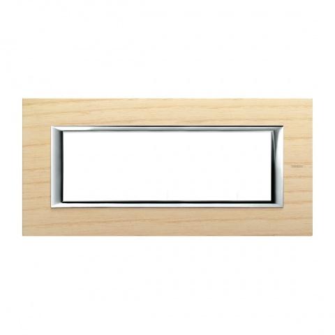 дървена шестмодулна рамка, ashwood, bticino, axolute, ha4806lfr