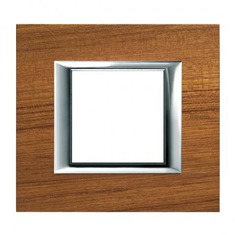 дървена рамка, teak, bticino, axolute, ha4802ltk