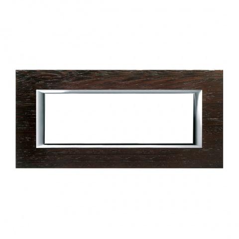 дървена шестмодулна рамка, wenge, bticino, axolute, ha4806lwe