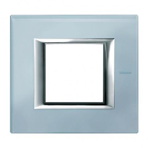 стъклена рамка, blue glass, bticino, axolute, ha4802vzs
