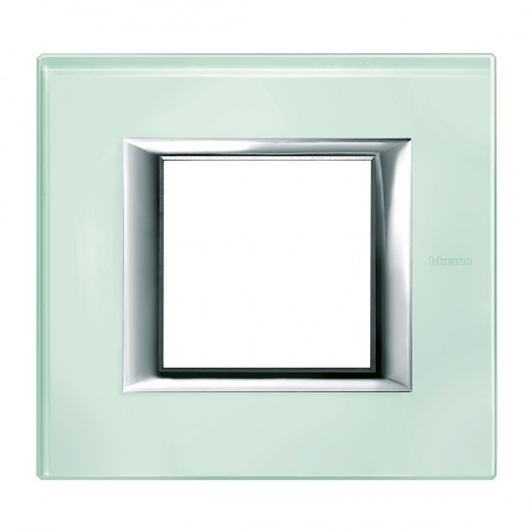стъклена рамка, kristall glass, bticino, axolute, ha4802vka