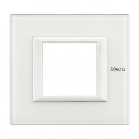 стъклена рамка, white glass, bticino, axolute, ha4802vbb