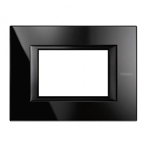 стъклена тримодулна рамка, nighter, bticino, axolute, ha4803vnb