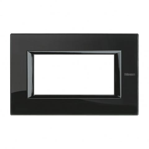 стъклена четиритримодулна рамка, nighter, bticino, axolute, ha4804vnb