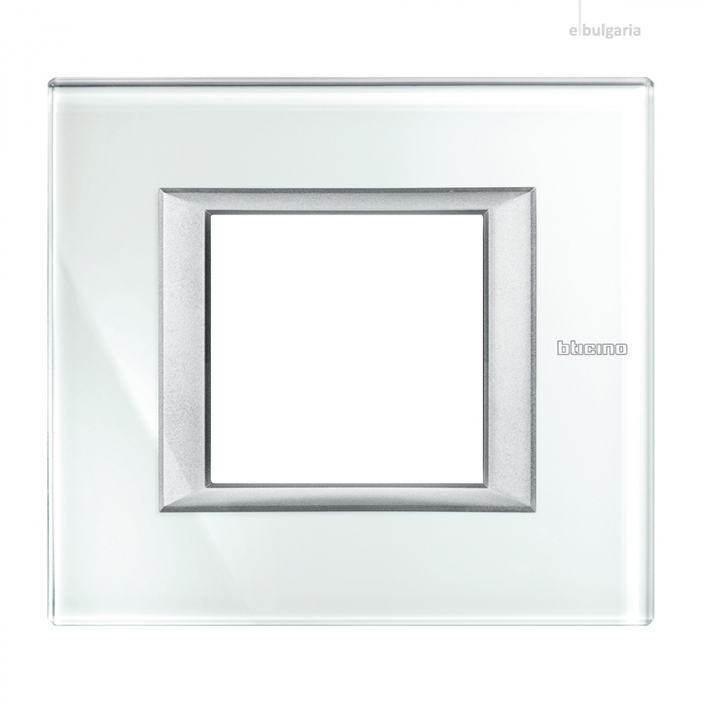стъклена рамка, whice, bticino, axolute, ha4802vsw