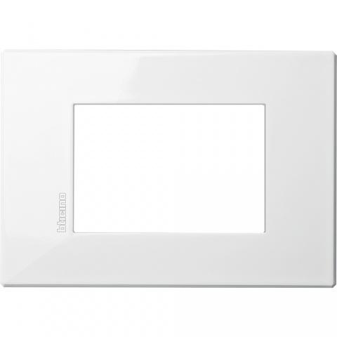 pvc тримодулна рамка, axolute white, bticino, axolute air, hw4803hd
