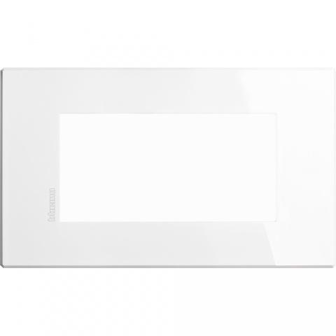 pvc четиримодулна рамка, axolute white, bticino, axolute air, hw4804hd