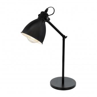 метална работна лампа, black, eglo, priddy, 1x40w, 49469