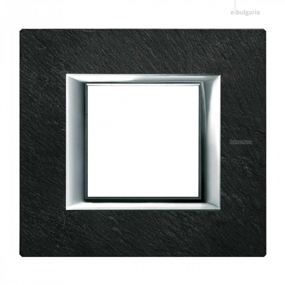 каменна рамка, slate, bticino, axolute, ha4802rlv