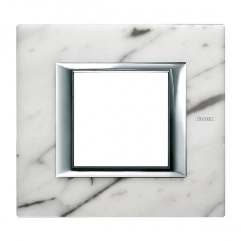 мраморна рамка, carrara marble, bticino, axolute, ha4802rmc