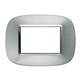 метална тримодулна рамка, axolute aluminium, bticino, axolute, hb4803xc