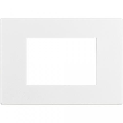 pvc тримодулна рамка, matt white, bticino, axolute air, hw4803aw