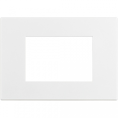 pvc четиримодулна рамка, matt white, bticino, axolute air, hw4804aw