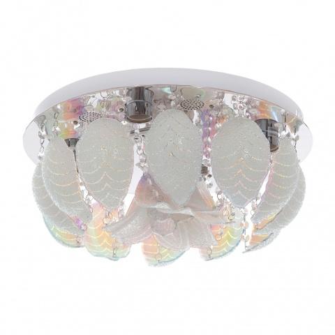 кристален плафон, хром, elbulgaria, 5x40w+led rgb, 953a ch